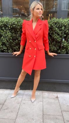 The stunning new blazer dress from our last Spring collection in show-stopping orange red shade is the new statement piece to wear for every date, party, lunch, brunch or drinks with the girls! Blazer Dress, Event Dresses, Spring Collection, Dress Ideas, Boutique, Orange, Red, How To Wear, Fashion