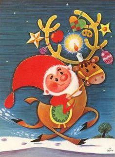 Santa & Rudolph The Reindeer