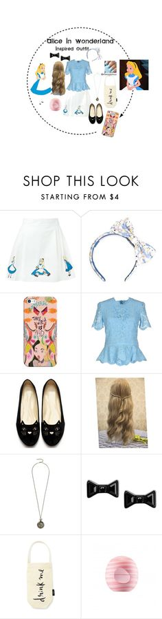 """""""Alice In Wonderland - Semi-Casual"""" by disneyxesme on Polyvore featuring Olympia Le-Tan, Casetify, Emilio Pucci, Disney, Marc by Marc Jacobs, Kate Spade, Eos, disney and disneybound"""