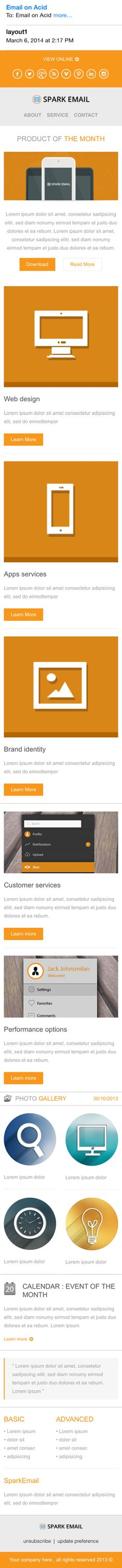 Free Responsive Email Template by Spark Email