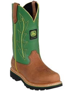 "John Deere Women's 10"" Pull-On Boots - Green"