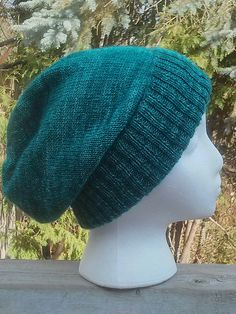 Sockhead Slouch Hat by Kelly McClure   malabrigo Mechita in Teal Feather