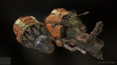 futuristic pod racer. inspired by Tor Frick. 55K tris and 4K maps.