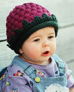 Baby Hat Knitting Pattern - Fiber Trends A Berry Cute Hat Knitting Pattern - Knitted Hat Pattern For Babies by SimplyCraftSupplies on Etsy Baby Hat Knitting Pattern, Baby Hats Knitting, Free Knitting, Knitted Hats, Knitting Patterns, Sweater Patterns, Knitting Machine, Hat Patterns, Knitting Ideas