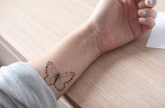 tatuaggio farfalla / tatuaggio di farfalle / bianco e di temptatco