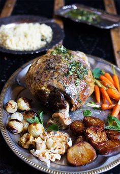 Roasted Leg of Lamb with Mint Pesto. A slow cooked work of art - that you can eat too!