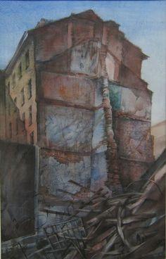 Живая руина 80х60см.  бумага  акварель,карандаш 2011г.  (проект 10 лет Намасте).