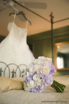 Beautiful Bridal Gown and Bouquet Shot by Candi Coffman Photography at Dresser Mansion - Bouquet by The French Bouquet