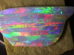 striped Rainbow Opal from Brazil
