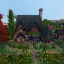 Garden Cottage by SpinTheMoon - The Exchange - Community - The Sims 3 Sims House Plans, Casas The Sims 4, Sims Ideas, Garden Cottage, Sims 3, One Bedroom, Deco, More Pictures, Minecraft