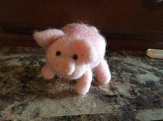 Needle felted Pig by SweetPeaFarmNY on Etsy