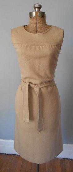 70s Bleyle Virgin Wool Knit Dress with Tie Belt by MDMvintage, $78.00