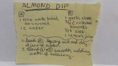 ALMOND DIP #almond #sauce #medieval
