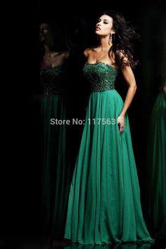 vestidos verde esmeralda con encaje de noche - Buscar con Google