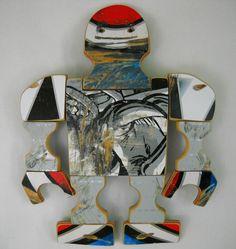 Recycled Skateboard Art. via Etsy.