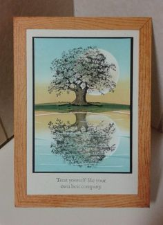 Reflection card with SU Lovely as a Tree. Absolutely GORGEOUS!