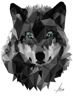 Geometric Wolf by anaba3.deviantart.com on @DeviantArt