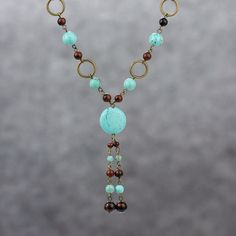Turquoise long lariat necklace Bridesmaids gifts Free US Shipping handmade Anni Designs by AnniDesignsllc on Etsy https://www.etsy.com/listing/173112392/turquoise-long-lariat-necklace