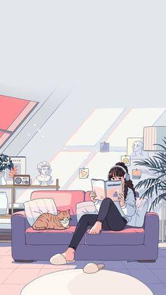 Cute Pastel Wallpaper, Anime Scenery Wallpaper, Cute Anime Wallpaper, Wallpaper Iphone Cute, Pretty Wallpapers, Cute Cartoon Wallpapers, Animes Wallpapers, Pretty Art, Cute Art