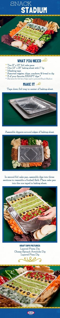 DIY Super Bowl Snack Stadiums - Savvy Nana