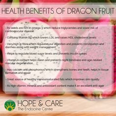 So beautiful to look at and so good for you! Health benefits of dragon fruits