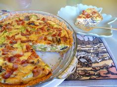 BACON, BROCCOLI, MUSHROOM AND GOUDA QUICHE - This was a good quiche.  Gouda contains tons of Vitamin K2 essential for maintaining bone mass.  For more lovely recipes, see: https://www.facebook.com/LowCarbingAmongFriends