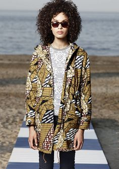Vlisco x WoolRich SS15 #ankara #streetwear