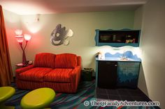 Disney with Kids- Disney's Art of Animation Resort: Family Suite Kitchenette Living Room