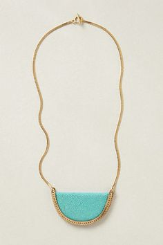 GOLD & TURQOISE. Stingray Crescent Necklace #anthropologie