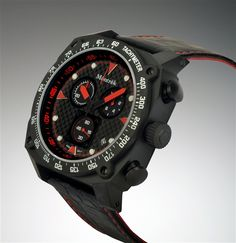 Montrek Watches black and red men's watch