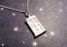 #doctorwho #tardis silver necklace