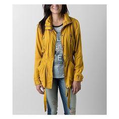 Ashley Anorak Jacket ($50) ❤ liked on Polyvore featuring outerwear, jackets, yellow, yellow jacket, zipper jacket, anorak jackets, ashley jacket and snap front jacket