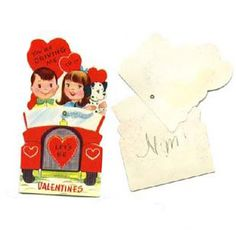 """1950's Valentines.....never thought """"my"""" Valentines would be vintage some day! see the blog post for more Valentines"""