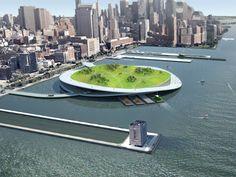 multi-purpose compost islands | new york city | design: present architecture