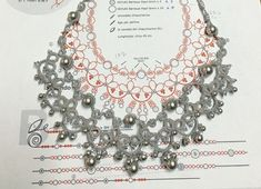 Diy Crafts - VK is the largest European social network with more than 100 million active users. Tatting Necklace, Tatting Jewelry, Lace Necklace, Tatting Lace, Crochet Motif, Irish Crochet, Crochet Patterns, Needle Tatting Tutorial, Tutorial Crochet