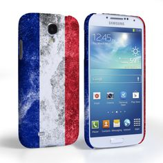 Caseflex Samsung Galaxy S4 Retro France Flag Case | Mobile Madhouse #Gift #Present #Samsung #Galaxy #S4 #SamsungS4 #GalaxyS4 #Case #Cover #HardCase #PhoneCover #Retro #Flag #Distressed #France #French