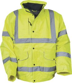 Portwest Hi Vis Bomber Jacket High Visibility Waterproof Coat Jacket Viz XS-5XL