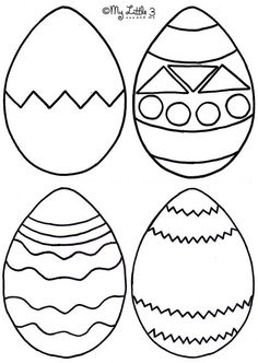 Easter Foam Bath Puzzles Egg TemplateEaster TemplatesPrintable