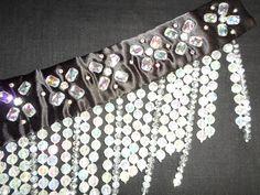 one-piece beaded bellydance belt detail