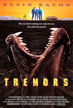 Tremors - Review: Tremors (1990) is directed byRon Underwood and the first in the Tremors movie franchise. Tremors had an… #Movies #Movie