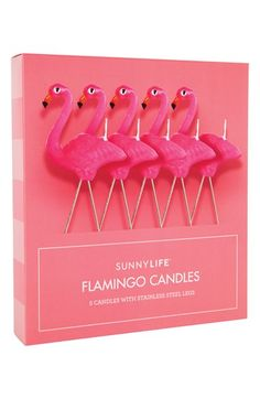 Sunnylife+Flamingo+Candles+(Set+of+5)+available+at+#Nordstrom