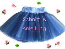 Schnitt + Anleitung Tüllrock Tutu Gr. 74-128 …