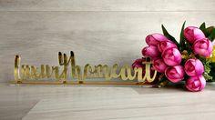 Bridal Decorations, Engagement Decorations, Table Decorations, Wedding Name, Wedding Signs, Wedding Favors, Nursery Signs, Nursery Decor, Big Letters