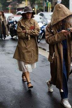 paris2london:  Basically (via On the Street….All About the Trench «The Sartorialist)