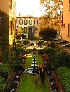 Explore the many hidden gardens in Savannah's hidden gardens.