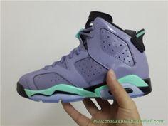 finest selection 4f644 e4dac chaussures de basketball pas cher 543390-508 GG Pourpre Vert AIR JORDAN 6  RETRO Femmes