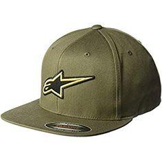 117fbd5bade50 Alpinestars Men s Logo Flexfit hat Flat Bill Structured Crown Baseball Cap