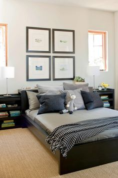 Laid-Back Guest Retreat | Make your guests feel comfortable and welcome with ideas from our best guest room designs. A guest bedroom is a wonderful way to welcome family and friends into your home. Here are a number of fabulous decorating ideas to help you make your guest bedroom comfortable, warm, and inviting. No matter the color and accents you prefer, from black-and-white, laid-back retreat, or updated with family heirlooms, your décor can create spaces where guests can unwind.