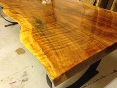 Viva Edge mesa de madera losa borde vivo mesa de por UrbanWoodLLC