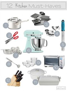 Twelve of the best kitchen and tools to make cooking even… Great list! Twelve of the best kitchen and tools to make cooking even easier! Kitchen Tools And Gadgets, Cooking Gadgets, Kitchen Supplies, Cooking Tools, Kitchen Hacks, Kitchen Stuff, Kitchen Items List, Must Have Kitchen Gadgets, Kitchen Ideas